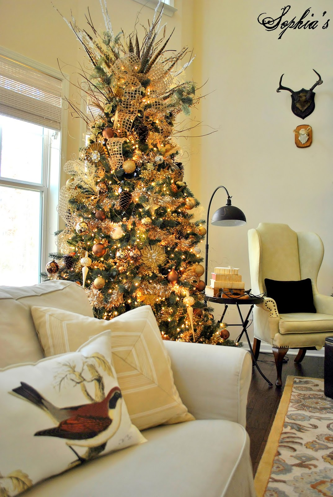 rustic christmas tree decorating idea - Country Christmas Tree Decorations