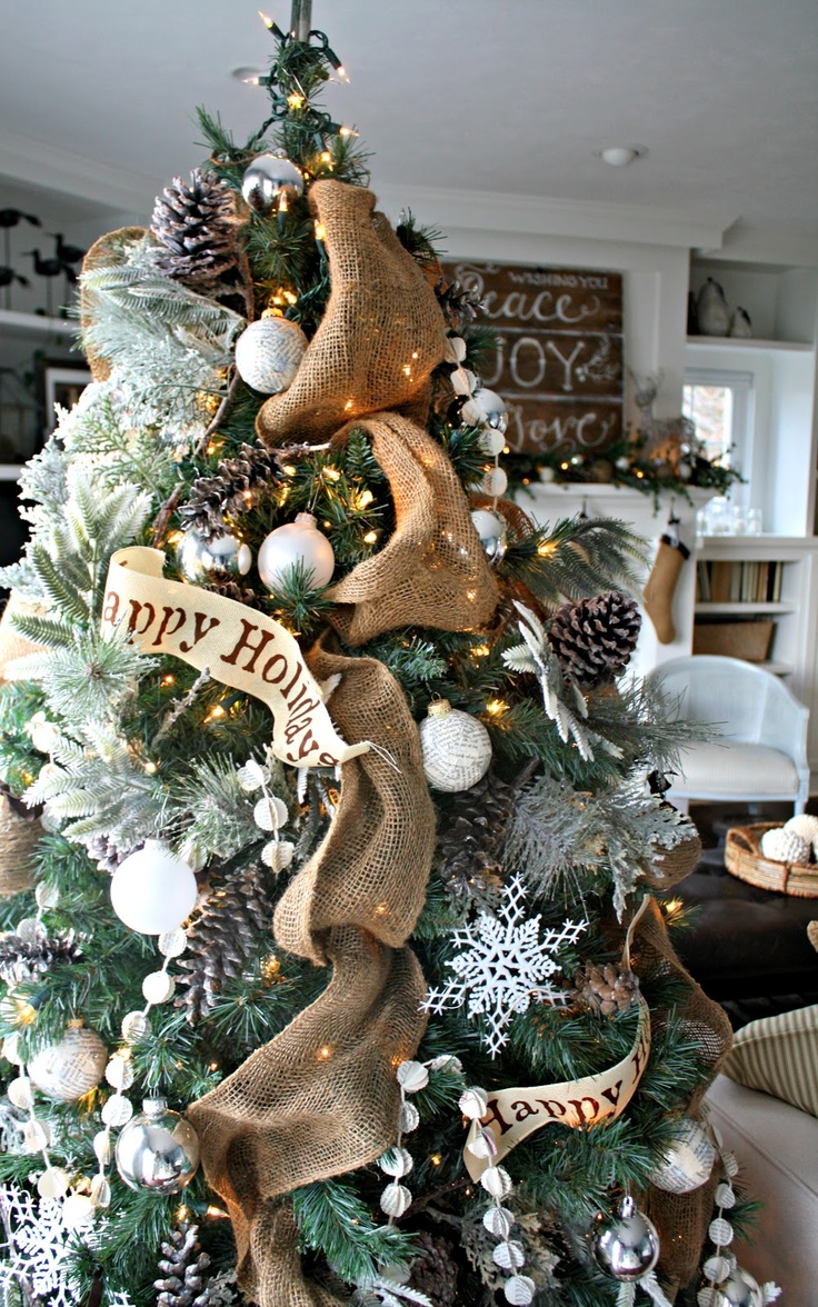 Rustic Christmas Tree Indoor Decor
