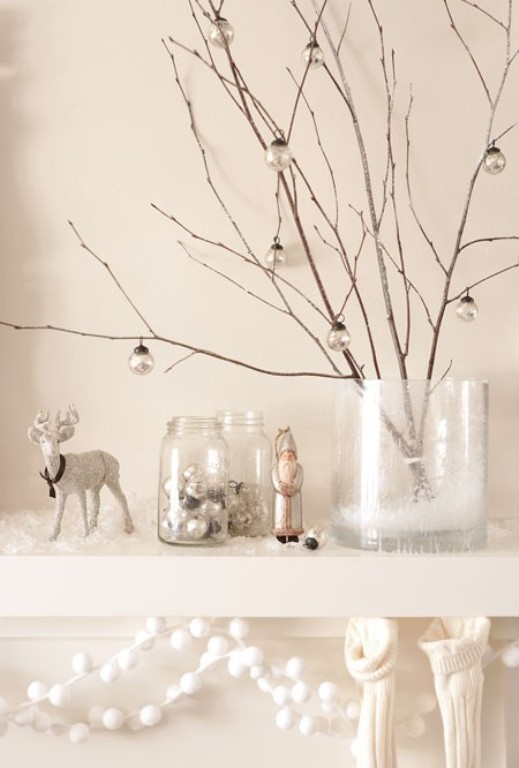 White Branches Christmas Decor