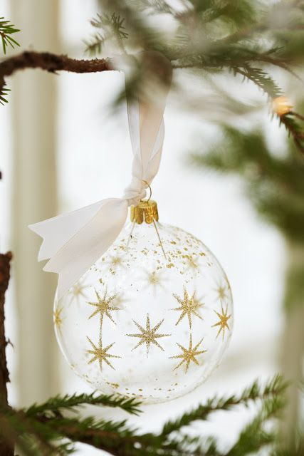 White and Gold Christmas Decorations