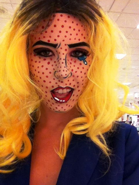 Comic Book Roy Lichtenstein Halloween Makeup