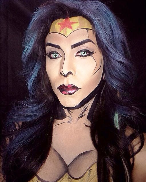 Comic Book Wonder Woman Halloween Makeup