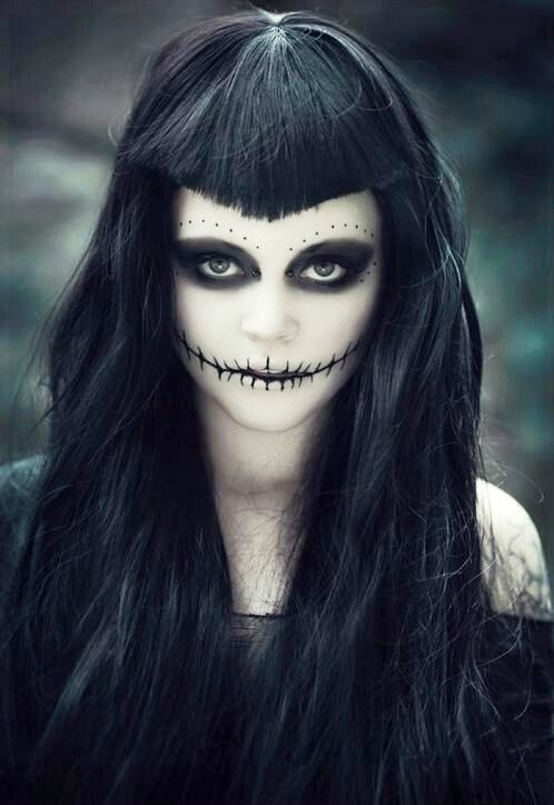 Dark Halloween Makeup Hair