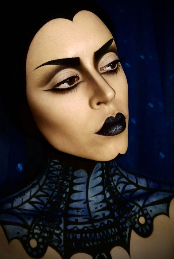 Dark Halloween Makeup Evil Queens