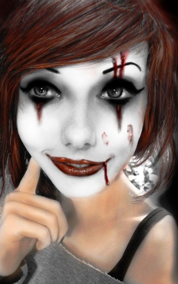 2 harley quinn halloween makeup