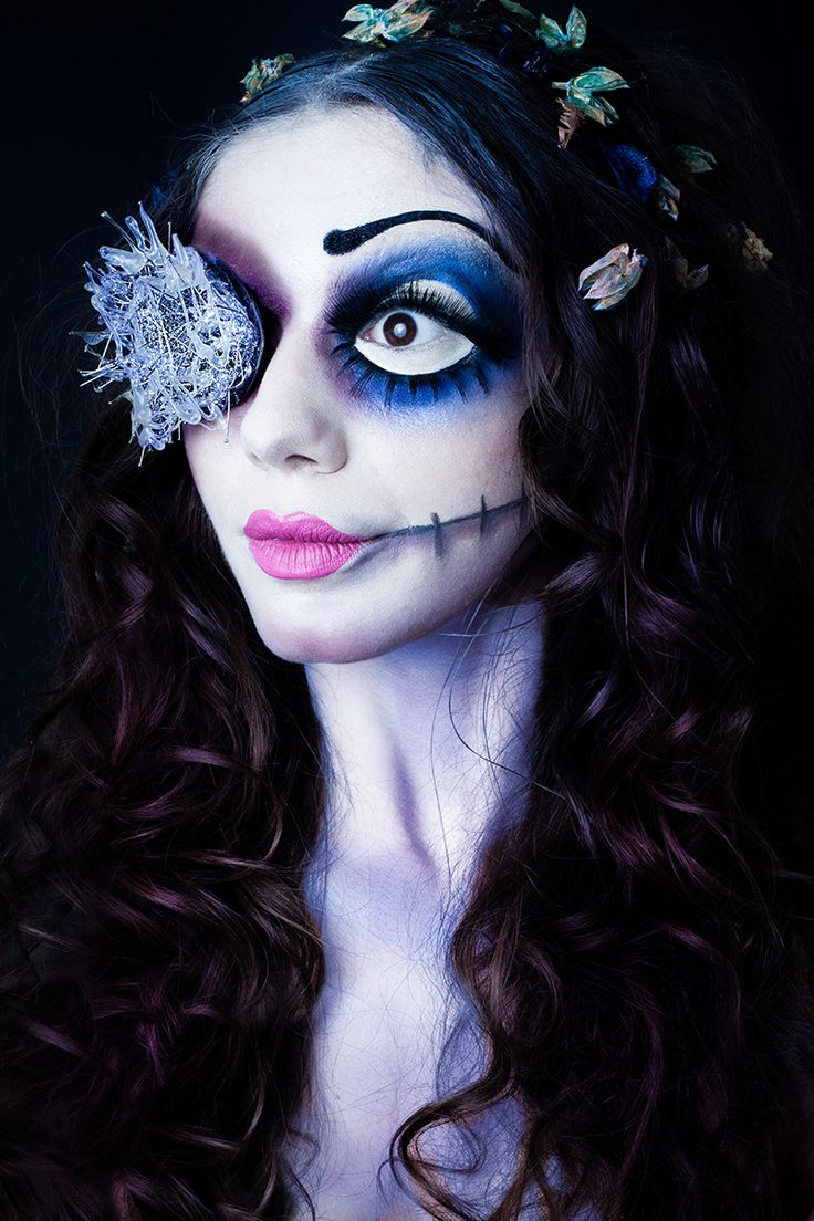 Dark Halloween Makeup Tim Burton
