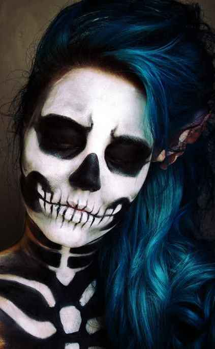 Dark Halloween Makeup Sugar Skull