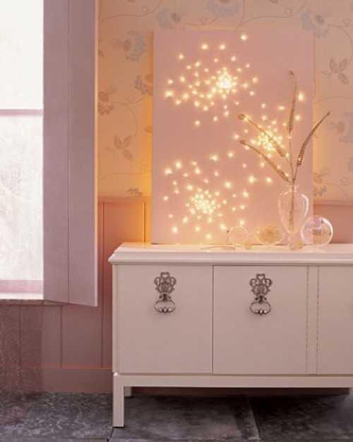 Christmas Light Canvas Art