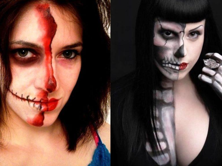 15 Best Half Face Halloween Makeup Ideas