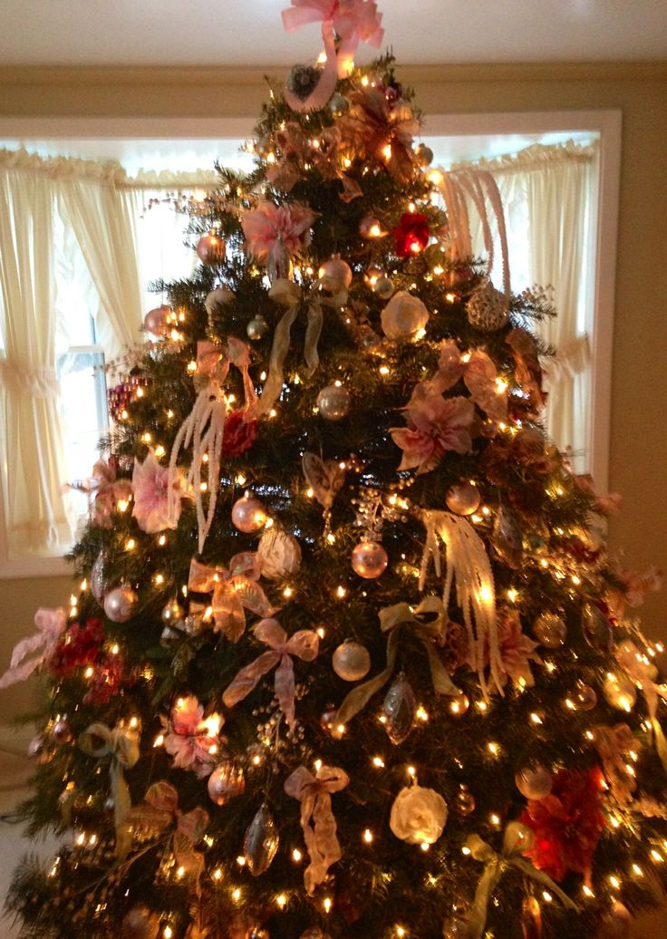 Victorian Christmas Trees Decorated