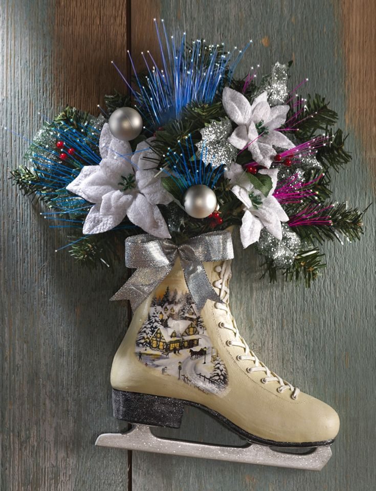 Victorian Ice Skate Christmas Decor