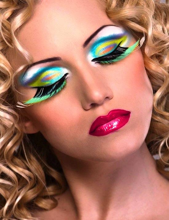 11 peacock halloween eye makeup