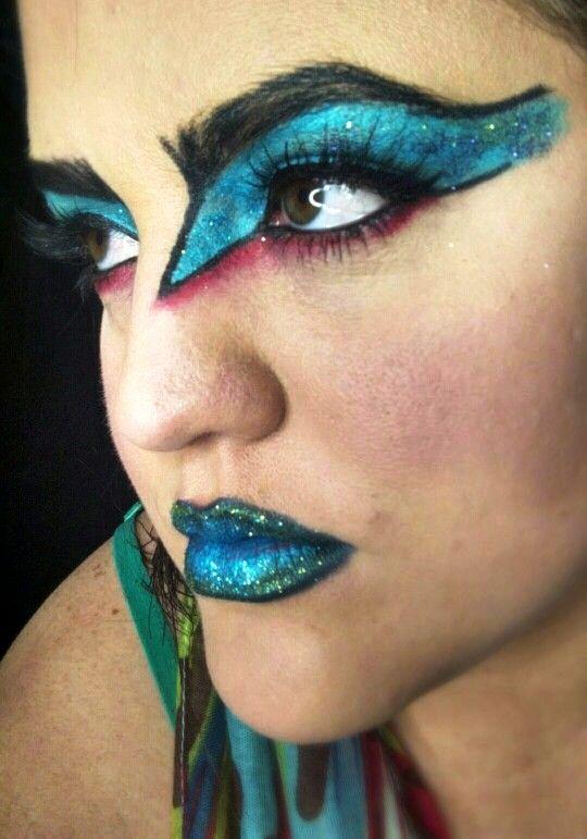 17 peacock halloween lips makeup