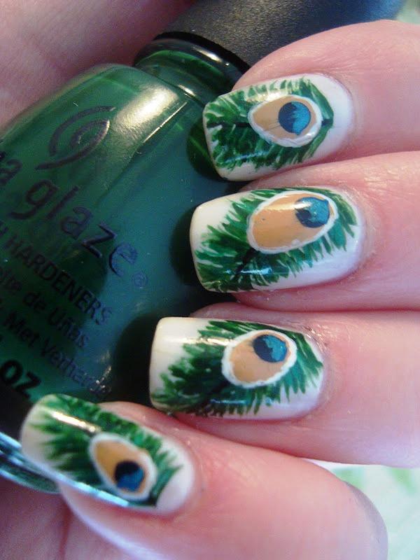 7 peacock nail art halloween makeup