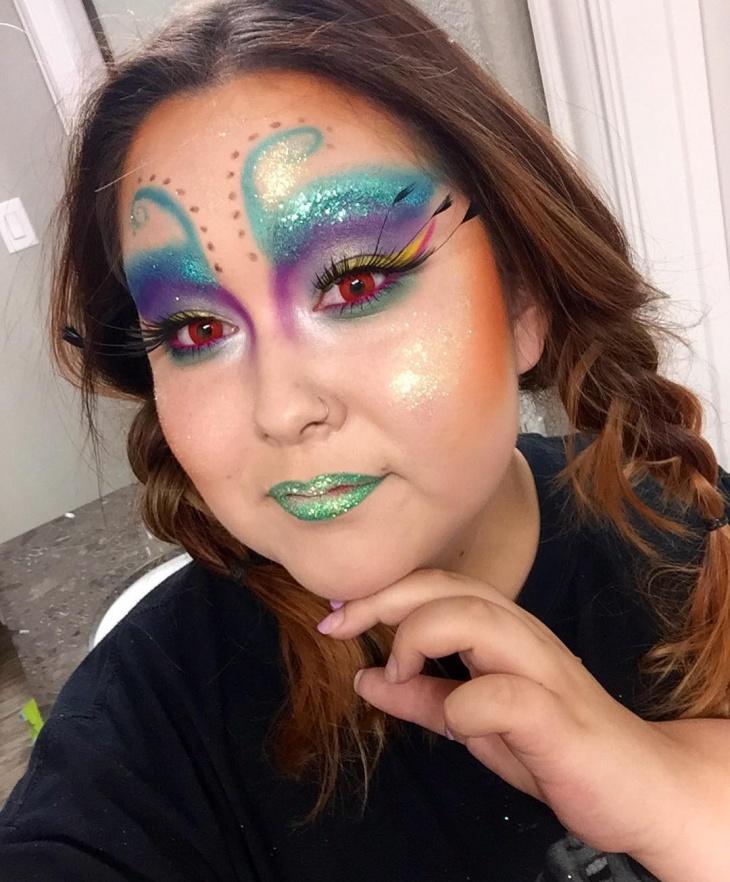 Beautiful-peacock-Makeup-Idea