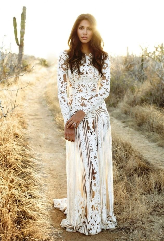 Bohemian Wedding Dress Ideas (25)