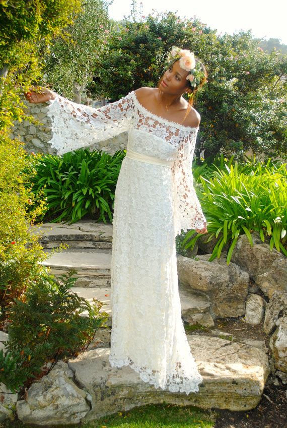 Bohemian Wedding Dress Ideas (6)