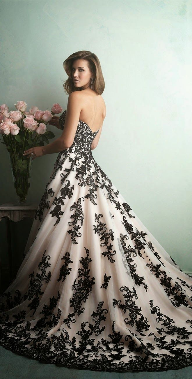 Beautiful Black Wedding Dress Ideas Inspiredluv (11)