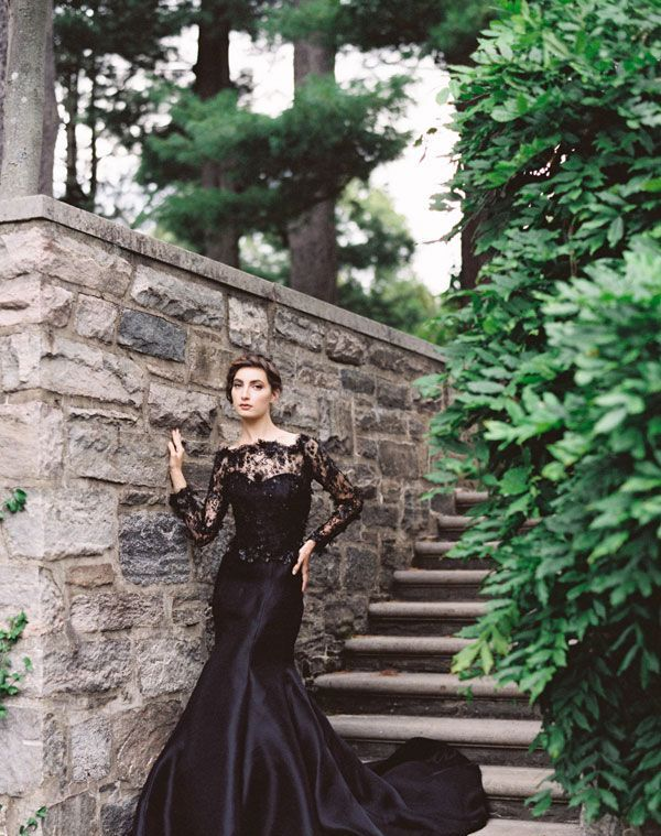 Beautiful Black Wedding Dress Ideas Inspiredluv (17)
