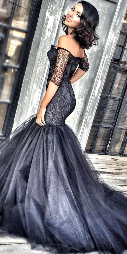 Beautiful Black Wedding Dress Ideas Inspiredluv (19)