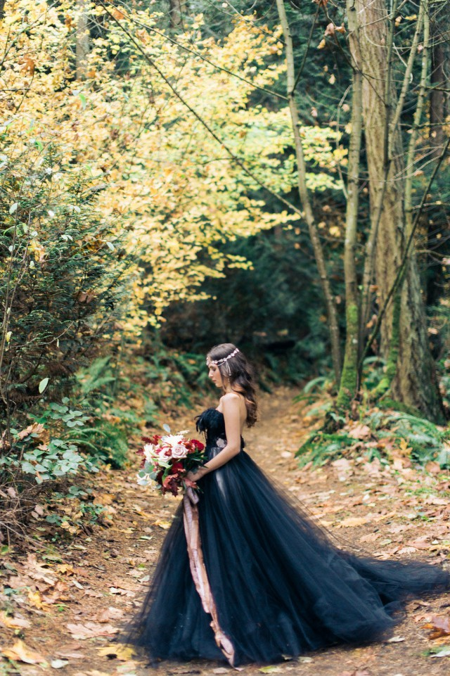 Beautiful Black Wedding Dress Ideas Inspiredluv (3)