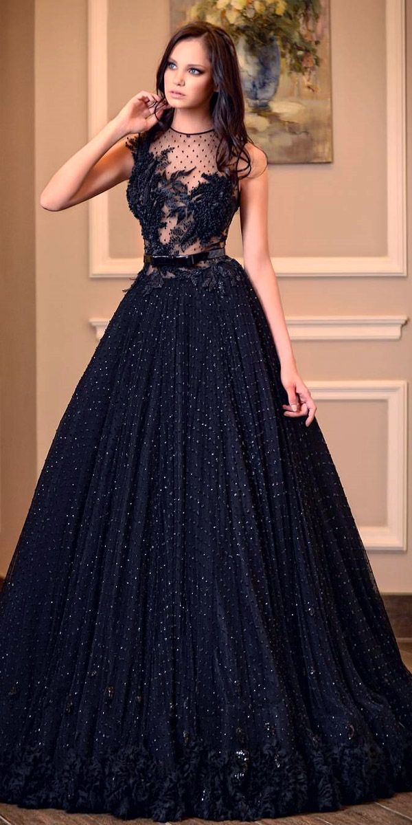 20 beautiful black wedding dress ideas