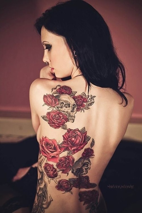 Beautiful Back Tattoos For Women inspiredluv (12)