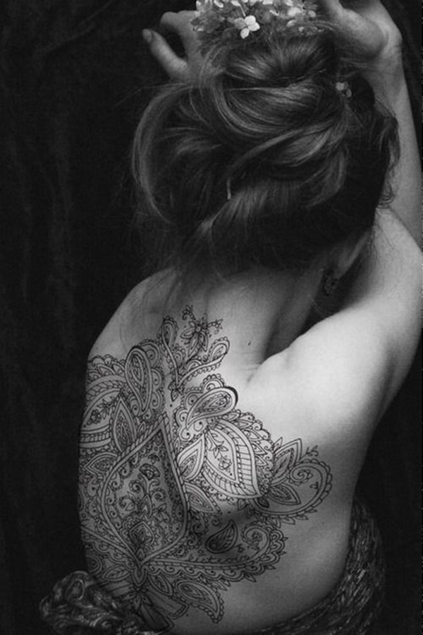 Beautiful Back Tattoos For Women inspiredluv (19)