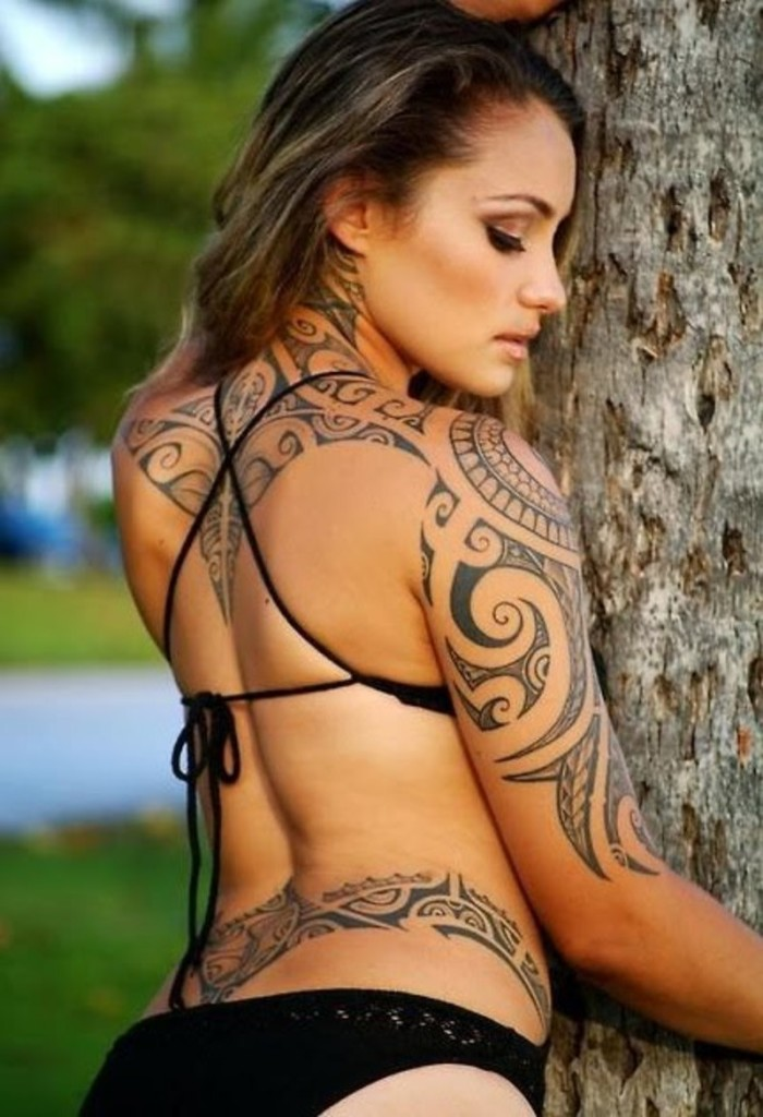 Beautiful Back Tattoos For Women inspiredluv (28)