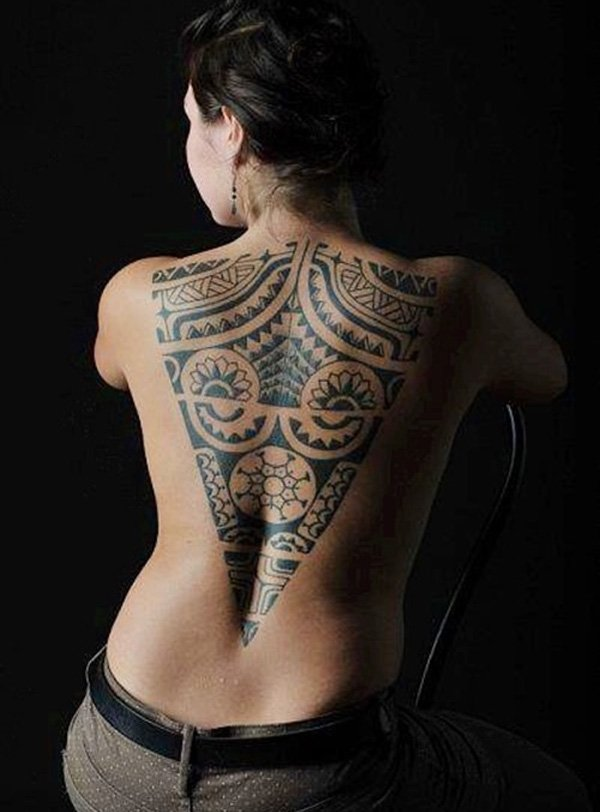 Beautiful Back Tattoos For Women inspiredluv (29)