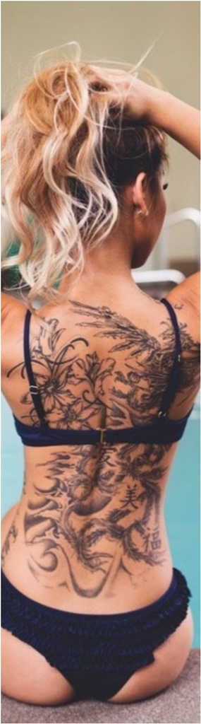 Beautiful Back Tattoos For Women inspiredluv (9)