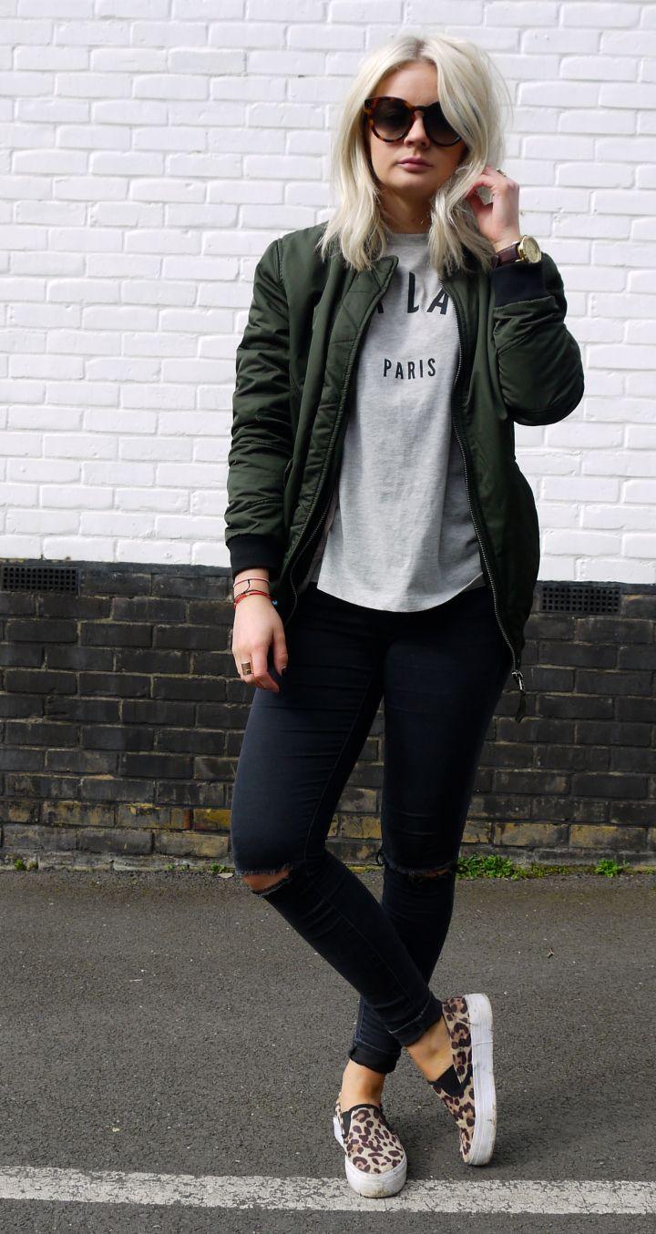 Bomber Jacket Ideas For Women inspiredluv (6)
