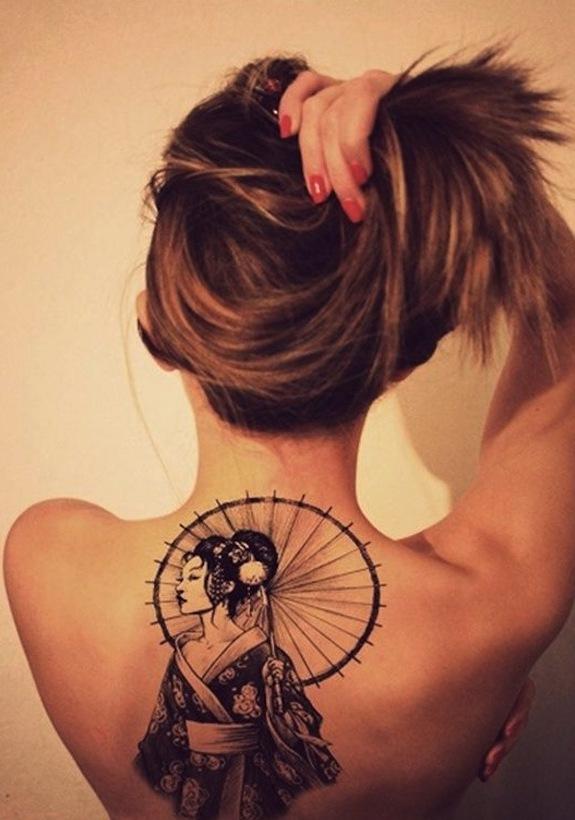 Japanese Geisha Tattoos Ideas inspiredluv (10)