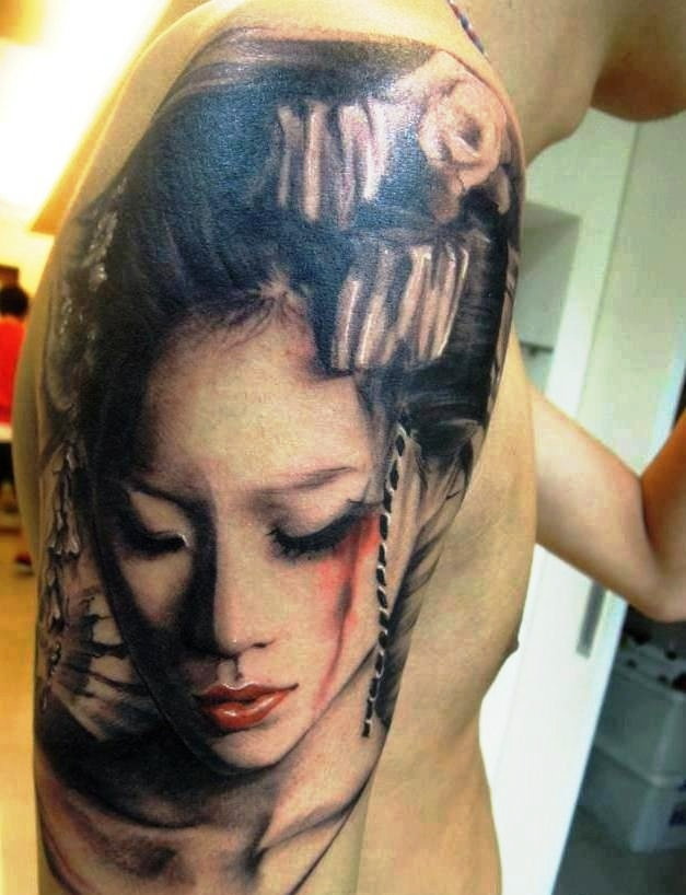 Japanese Geisha Tattoos Ideas inspiredluv (11)
