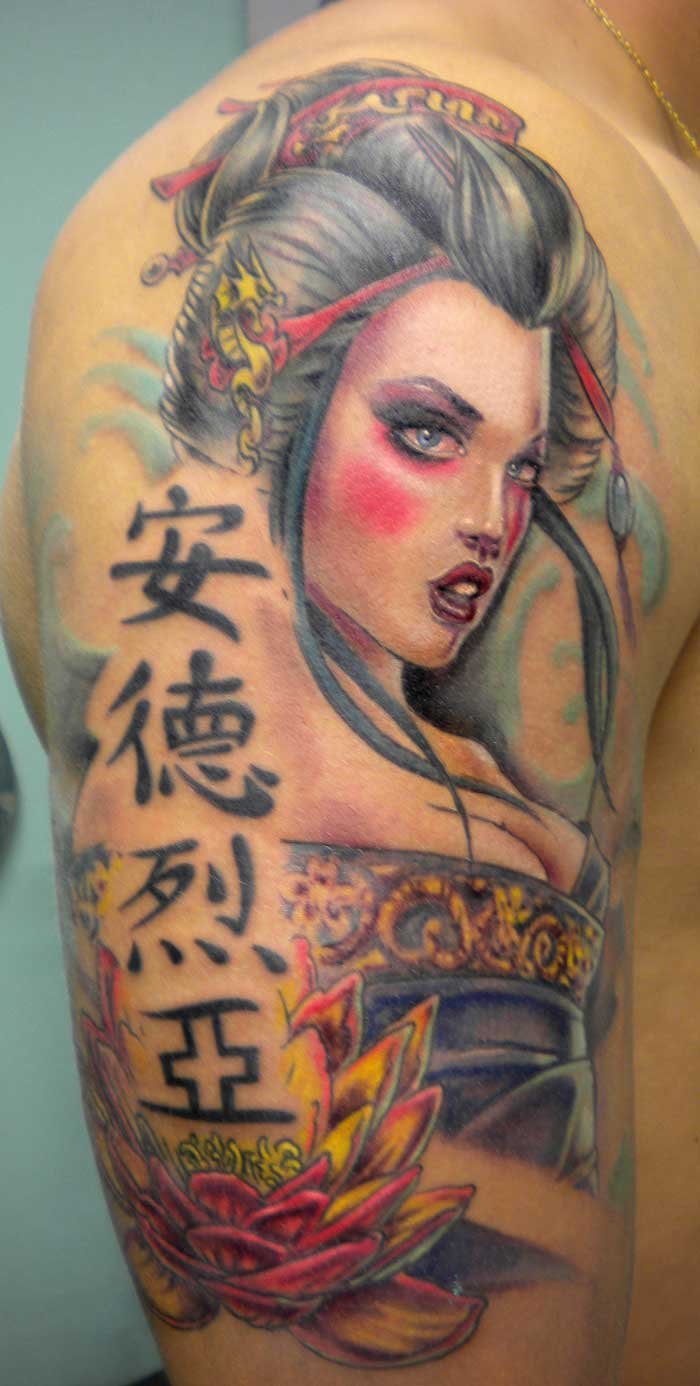 Japanese Geisha Tattoos Ideas inspiredluv (12)