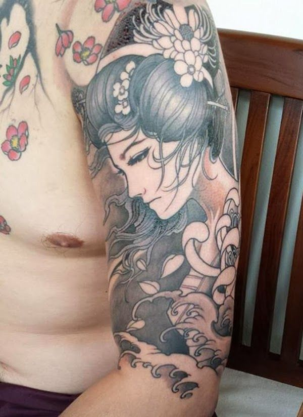 Japanese Geisha Tattoos Ideas inspiredluv (13)