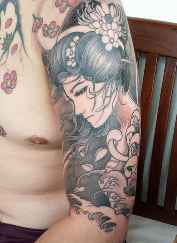 Japanese Geisha Tattoos Ideas inspiredluv (13)