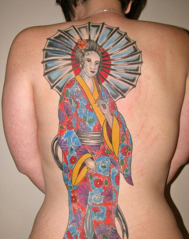 Japanese Geisha Tattoos Ideas inspiredluv (14)