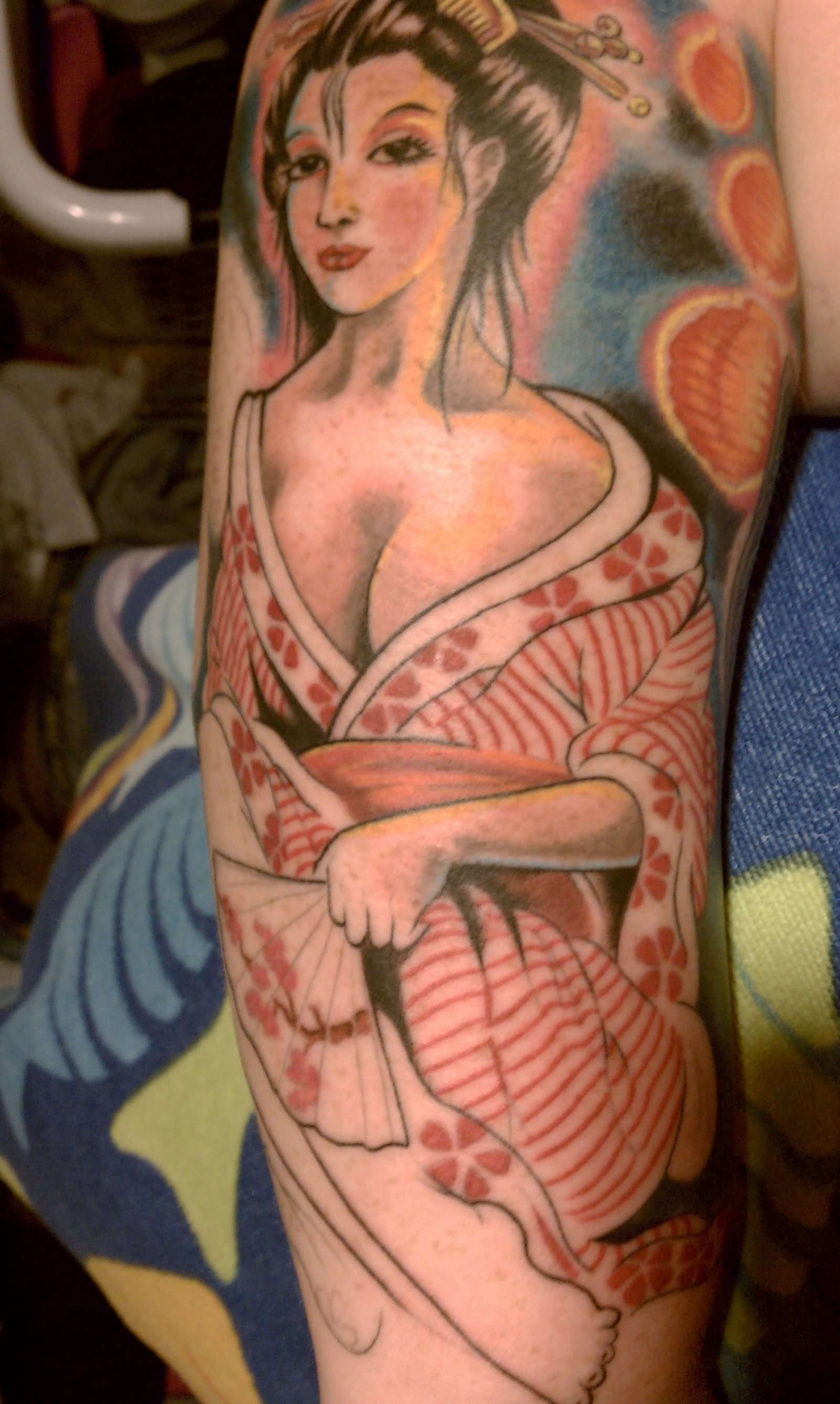 Japanese Geisha Tattoos Ideas inspiredluv (16)
