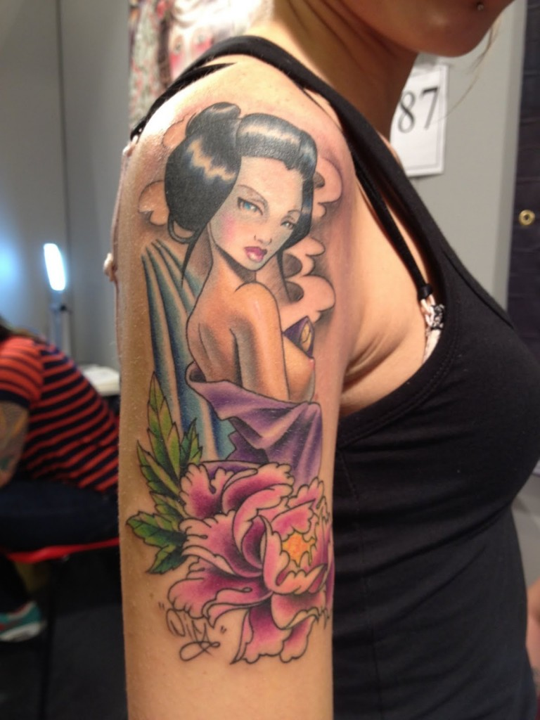 Japanese Geisha Tattoos Ideas inspiredluv (18)