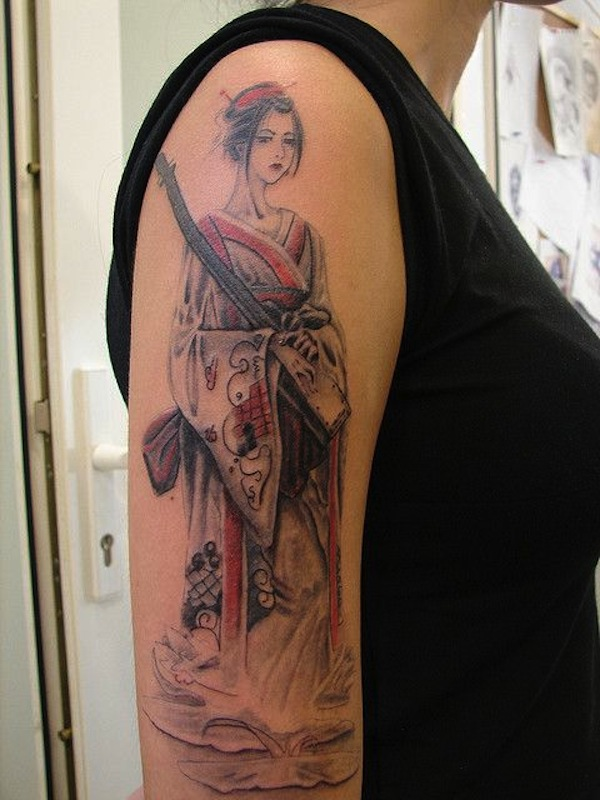 Japanese Geisha Tattoos Ideas inspiredluv (19)