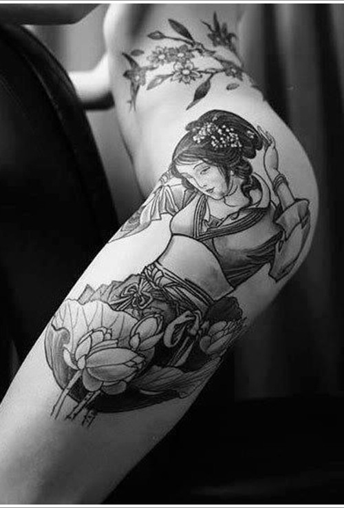 Japanese Geisha Tattoos Ideas inspiredluv (2)