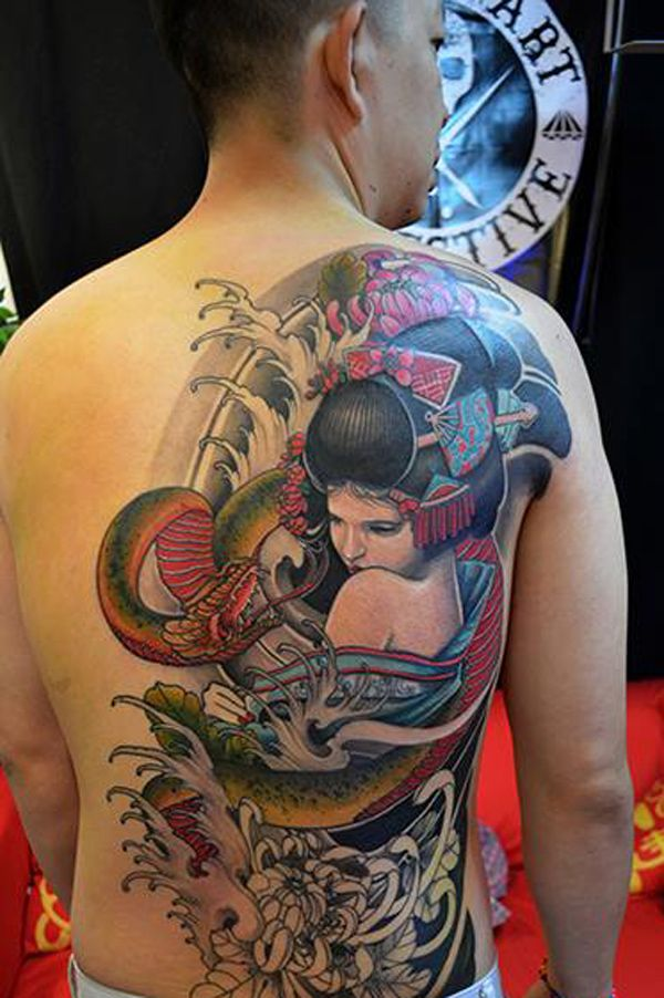 Japanese Geisha Tattoos Ideas inspiredluv (22)