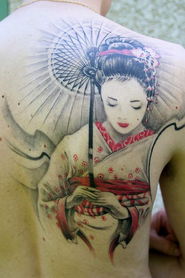 Japanese Geisha Tattoos Ideas inspiredluv (26)