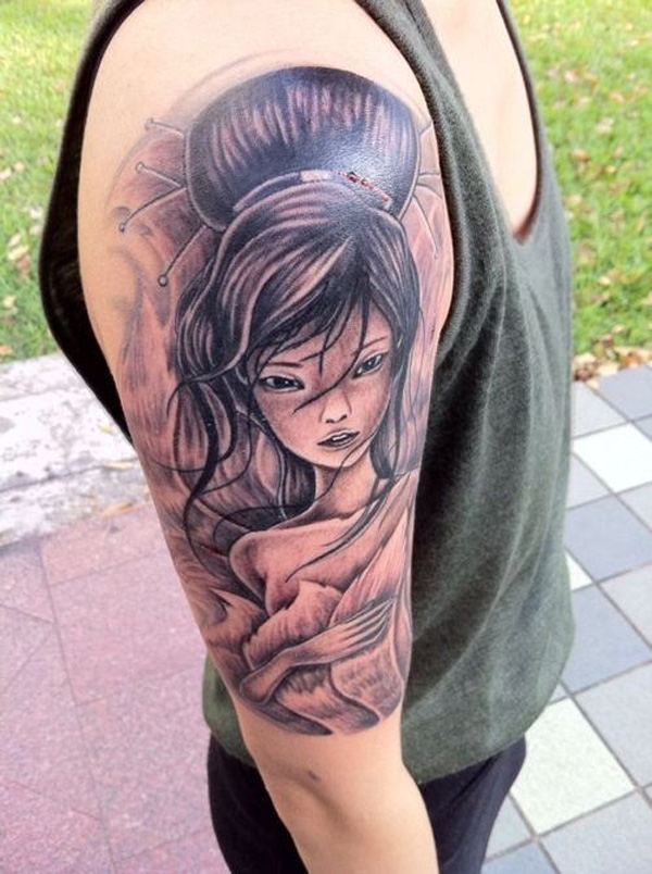 Japanese Geisha Tattoos Ideas inspiredluv (27)