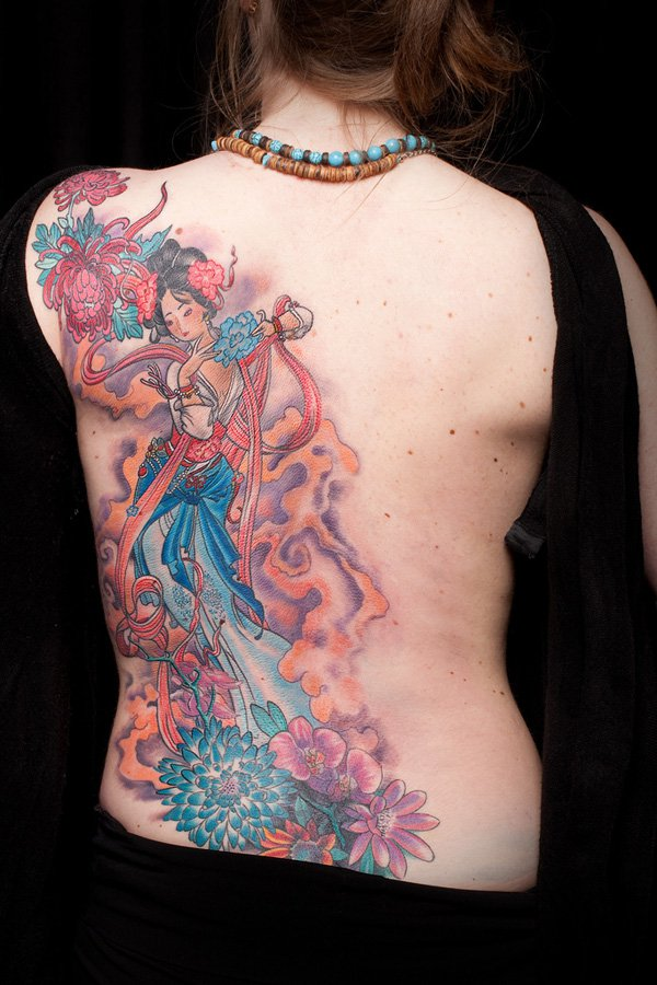 Japanese Geisha Tattoos Ideas inspiredluv (3)