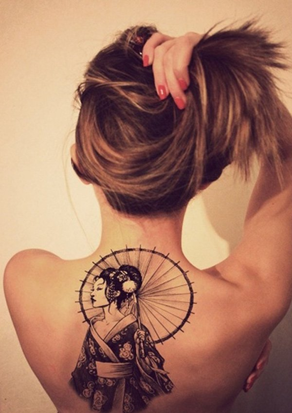 Japanese Geisha Tattoos Ideas inspiredluv (6)