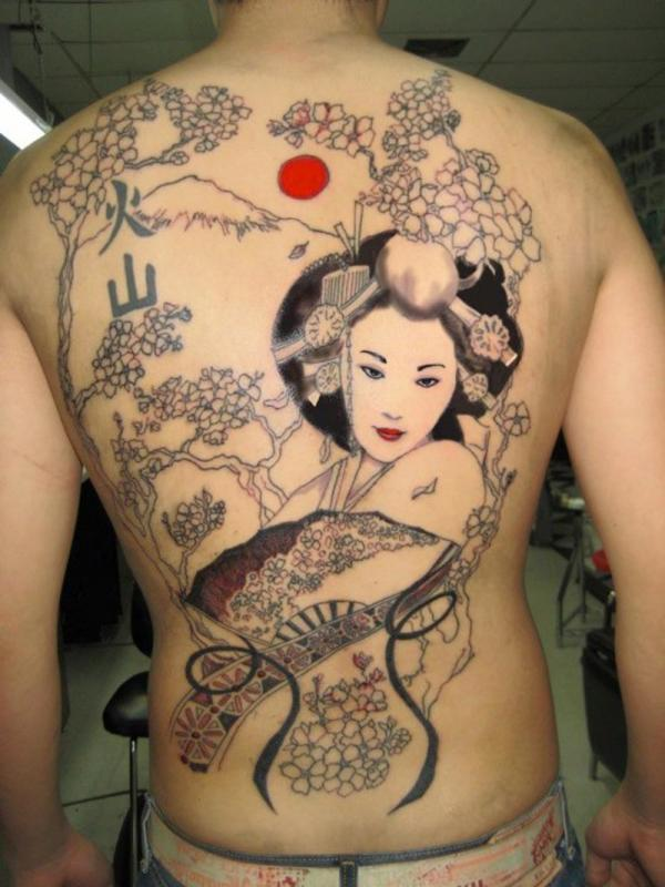 Japanese Geisha Tattoos Ideas inspiredluv (7)