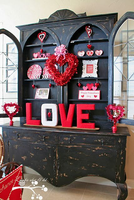 Red Valentine Home Decor Ideas inspiredluv (10)