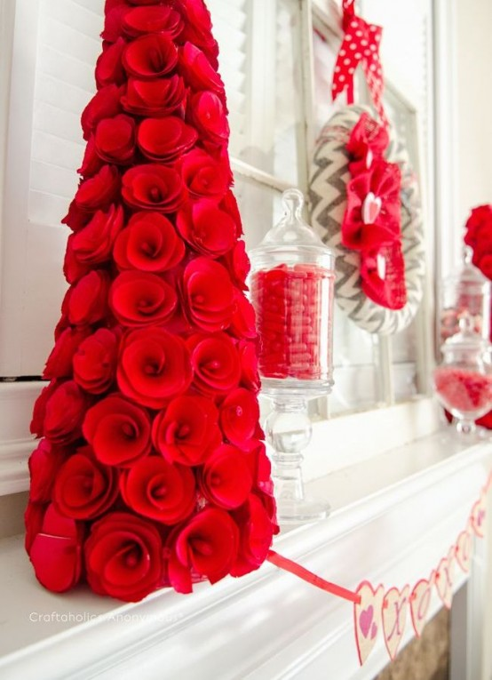 Red Valentine Home Decor Ideas inspiredluv (9)